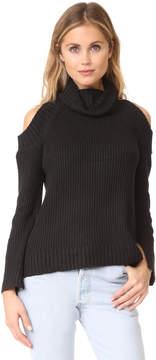 J.o.a. Cold Shoulder Turtleneck Sweater