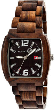 Earth Wood Sagano Dark Brown Bracelet Watch with Date ETHEW2402