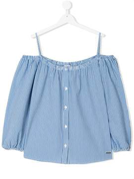 MSGM TEEN striped Bardot blouse