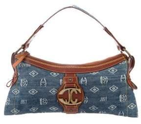 Just Cavalli Embellished Denim Shoulder Bag