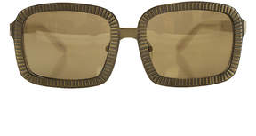 Alexander Wang C1 Antique Brass Rectangle Sunglasses