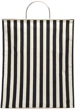 MARQUES'ALMEIDA Striped satin tote bag