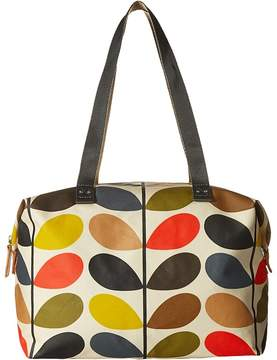 Orla Kiely Matt Laminated Classic Multi Stem Zip Shopper Tote Handbags