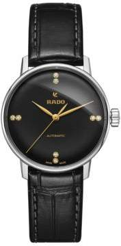 Rado Coupole Classic Stainless Steel and Leather Strap Watch