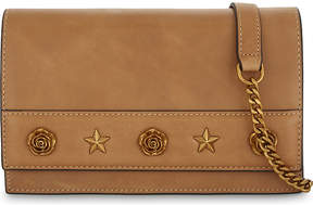 Mo&Co. Rose and star leather shoulder bag