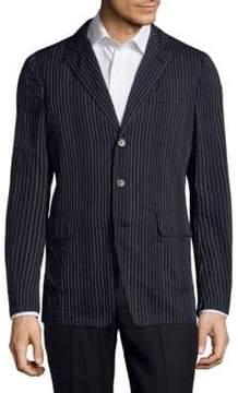 Dries Van Noten Pinstripe Wool Jacket