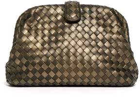 Bottega Veneta The Lauren 1980 Leather Clutch - Womens - Gold Multi