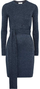 3.1 Phillip Lim Twisted Metallic Ribbed-knit Dress - Navy
