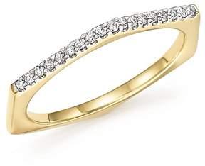 Adina 14K Yellow Gold Pavé Diamond Hexagon Ring