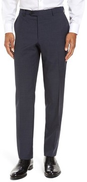 Pal Zileri Men's Marzotto Flat Front Check Wool Trousers