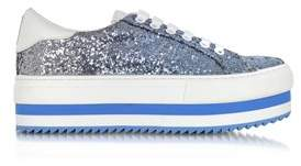 Marc Jacobs Women's Light Blue Glitter Sneakers.