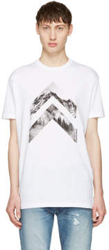 DSQUARED2 White Arrow Mountain T-Shirt