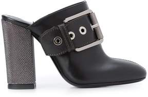 Barbara Bui buckle front boot style mules