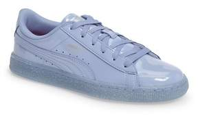 Puma Basket Iced Glitter Sneaker (Baby, Walker, Toddler, Little Kid & Big Kid)