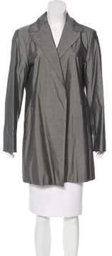 Agnona Silk Open Front Blazer