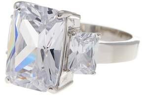 Ariella Collection CZ Bold Three Stone Ring
