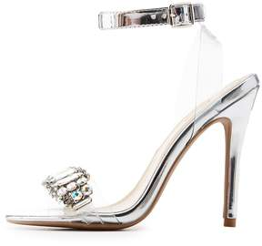 Charlotte Russe Qupid Crystal-Trim Ankle Strap Sandals