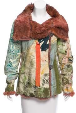 Christian Lacroix Embellished Fur Lined Jacket