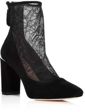 Pour La Victoire Women's Risa Suede & Lace Booties