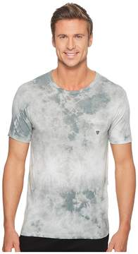 VISSLA Calipher Embroidery Tie-Dye Short Sleeve Tee Men's T Shirt