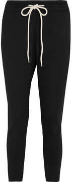 Bassike Cropped Cotton-blend Jersey Track Pants - Black