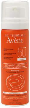 Avene Ultra-Light Hydrating Sunscreen Lotion Travel Spray, Body SPF 50+