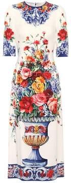 Dolce & Gabbana Floral-printed silk-blend dress