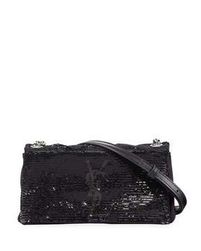 Saint Laurent Toy West Hollywood Monogram Sequin Crossbody Bag, Black - BLACK - STYLE