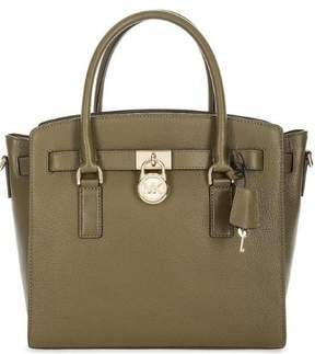 Michael Kors Hamilton Large Leather Satchel - Olive - 30S7GHMS7L-333 - ONE COLOR - STYLE