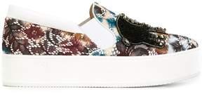 No.21 embellished slip-on sneakers