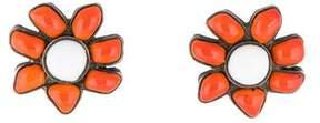 Chanel Enamel Flower Clip-On Earrings