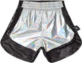 Nununu Silver and Black Gym Shorts