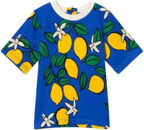 Mini Rodini Blue Lemon Zip Short Sleeve T-Shirt