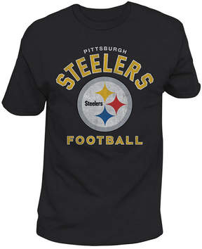 Authentic Nfl Apparel Men's Pittsburgh Steelers Midfield Retro T-Shirt
