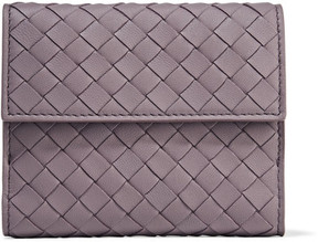 Bottega Veneta - Intrecciato Leather Wallet - Purple