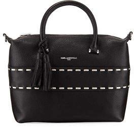 Karl Lagerfeld Paris Kameo Pebbled Satchel Bag