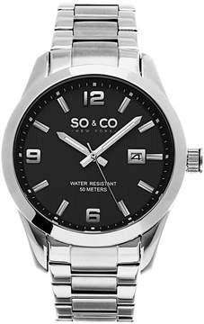 Co SO & Ny Men's Madison Stainless Steel Bracelet Dress Quartz Water Resistant Watch J154P65