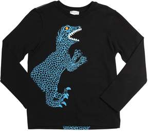 Paul Smith Dinosaurs Printed Cotton Jersey T-Shirt