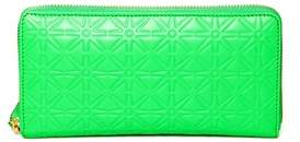 Comme des Garcons Women's Green Leather Wallet.