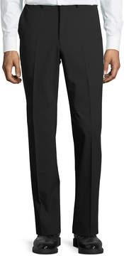 DKNY Wool-Blend Straight-Leg Trousers, Black