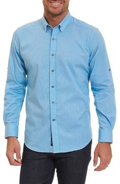 Robert Graham Men's Big & Tall Carlos Tailored Fit Sport Shirt