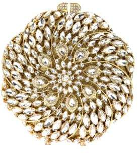 Natasha Crystal Studded Spiral Clutch