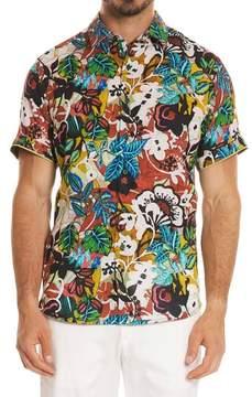 Robert Graham Havana Linen Sport Shirt