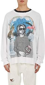 R 13 Men's Distressed Graphic Cotton Sweatshirt