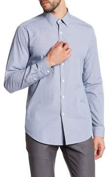 Theory Sylvain Check Print Regular Fit Shirt