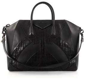 Givenchy Pre-owned: Antigona Bag Leather And Crocodile Embossed Large.