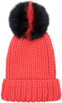 Eugenia Kim Women's Rain Wool Fox Fur Beanie