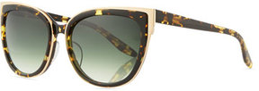 Barton Perreira Winette Gradient Universal-Fit Cat-Eye Sunglasses, Tortoise