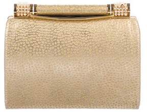 Rodo Embellished Metallic Leather Clutch