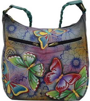 Anuschka Anna By ANNA by Hand Painted Shoulder Hobo 8256 (Women's)